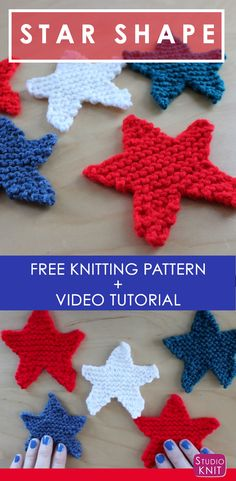How to Knit a Star Shape with Studio Knit - Free Pattern + Video Tutorial via @StudioKnit