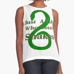 This design is perfect for any girl who really loves snakes. Wear it proudly! For more cool designs visit grandpastees.redbubble.com.  #snakegifts #snalelover #giftsforgirls #snake #redbubble #findyourthing