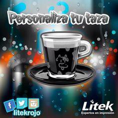 Personaliza tus tazas y dale color a la hora del cafesito!  Pregunta en línea ✅ #Litek #ExpertosEnImpresión #PiensaRojo