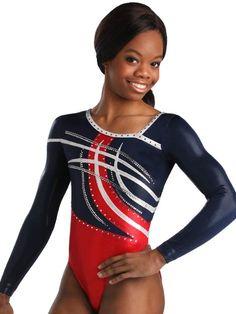 Fierce Asymmetrical Gym Leo from GK Elite (modeled by Gabby Douglas) Gymnastics Grips, Gymnastics Competition Leotards, Gymnastics Wear, Gymnastics Outfits, Artistic Gymnastics, Famous Black People, Gk Leotards, Gabby Douglas, Female Gymnast