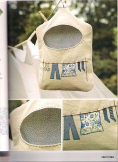 bolsa para las pinzas de la ropa