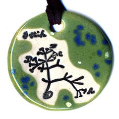 The Original Tree of Life Ceramic Necklace or Ode to by surly, $18.00