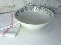 Large Digoin porcelain serving bowl French by frenchvintagedream