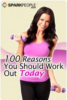 "We all have those days that we don't want to work out even though we know we should.     When you need a little motivation, look no further.    Here are 100 reasons you shouldn't skip your workout today.    Print, save, pin or ""like"" this post so you'll have easy access to it on the days you need it most."