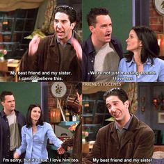 Friends Season 5.15 The One with the Girl Who Hits Joey Ross Monica Chandler