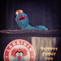 #Troggg during a puppet show.