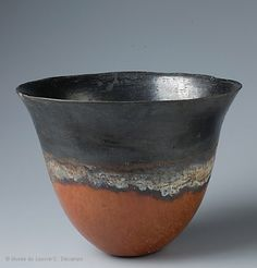 Beaker found in a cemetery on Sai Island, Sudan.   Kerma  Period, c. 1750-1500 BCE  (Reminiscent of Egyptian red and black ware of the same era.)