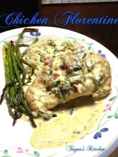 Chicken Florentine (Crock Pot) Ingredients 6 boneless skinless chicken breasts 2 boxes creamed spinach 1 14 oz can of diced tomatoes (I us. Paleo Crockpot Recipes, Rice Cooker Recipes, Chicken Recipes, Chicken Meals, Crockpot Meals, Yummy Recipes, Recipies, Cooking Recipes, Healthy Recipes
