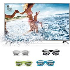 Submarino TV LED 3D 32'' LG 32LF620B HD com Conversor Digital 2 HDMI 1 USB + 4 Óculos 3D - R$1.099,00