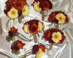 Build Your own Fall Wedding Package.Mossy by Customweddingdesigns Fall Wedding Bouquets, Fall Wedding Colors, Bridesmaid Bouquet, Wedding Color Schemes, Wedding Flowers, Plan My Wedding, Camo Wedding, Rustic Wedding, Our Wedding