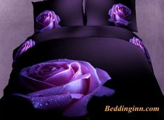 #rose #dewy #duvetcoverset Charming Big Dewy Purple Rose Ptint 3D Duvet Cover Sets  Buy link->http://goo.gl/KRlYiW Live a better life, start with @beddinginn  http://www.beddinginn.com/product/Charming-Big-Dewy-Purple-Rose-Ptint-3D-Duvet-Cover-Sets-10946156.html