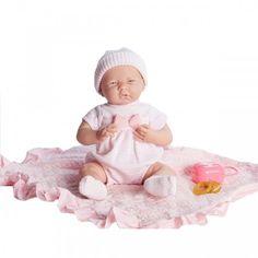 Realistic Newborn Baby Doll Girl Pink Cuddly 15 Inch Soft Vinyl Kids Toys New…