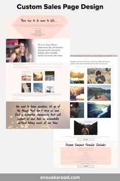 Custom Sales Page Design by Anouska Rood - for Jasna Burza's Purpose Compass Formula Feeling Overwhelmed, Page Design, Compass, Purpose