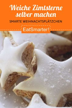 Weiche Zimtsterne – so geht's - Weiche Zimtsterne – so geht's Cookie Recipes From Scratch, Healthy Cookie Recipes, Oatmeal Cookie Recipes, Easy Cheesecake Recipes, Chocolate Cookie Recipes, Peanut Butter Cookie Recipe, Sugar Cookies Recipe, Chocolate Chip Cookies, Food Cakes