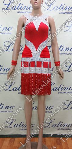 LATIN RHYTHM SALSA BALLROOM COMPETITION DANCE DRESS - SIZE S, M, L (LT846) #LatinoDancewears