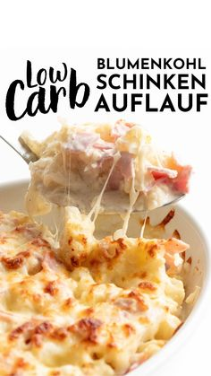 Keto Recipes, Fodmap Recipes, Easy Healthy Recipes, Mexican Food Recipes, Easy Meals, Cooking Recipes, Ham Casserole, Cauliflower Casserole, Baked Cauliflower