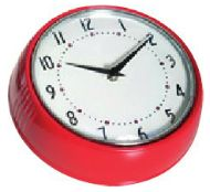 Red Wall Clock – Farg Form - Retro style wall clock available in lots of great colours perfect for brightening up your nursery. Available at www.babycompany.co.uk