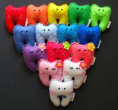 Mini Fée des dents colorées oreillers par RainbowCuties sur Etsy