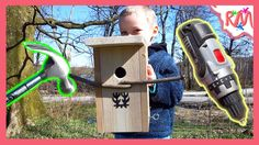 VLOG How to Build a Birdhouse in 2 Minutes with Hammer Drill and 2 kids ...