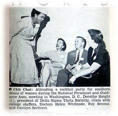 Dorothy I. Height, President of Delta Sigma Theta Sorority, in Washington, DC - Jet Magazine April 19, 1956