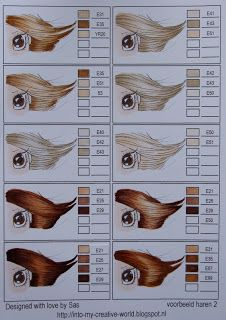 Copic combinations for HAIR COLOR - page 2 of 11
