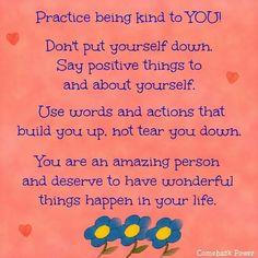 Being kind...