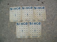 Deco Bingo Cards / Art Deco Font / 5 cards by assemblage333, $15.00