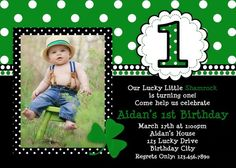 St Patrick's Day Birthday Invitaion
