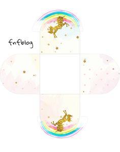 Girl Birthday Themes, Kids Party Themes, Unicorn Birthday Parties, Unicorn Party, Birthday Party Decorations, Party Ideas, Printable Box, Printable Planner Stickers, Box Invitations