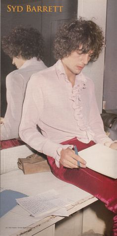Syd Barrett has set an unbelievably high bar for tuxedo ruffles on menswear. 1960s