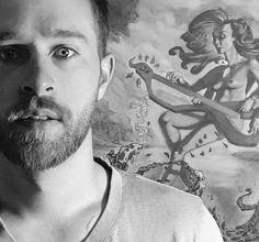 Got creeped on by @rafaelbutron in my studio . My kickstarter is now live! Click link in bio! . #art #draw #sketch #paint #utahartist #kickstarter #portrait #portraitphotography #artistsoninstagram #instaart #provo #utah #slc #utahart #blackandwhite