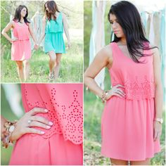 Great dress for any summer event! Pair with boots for a concert, wedges for a wedding, the list could go on and on.