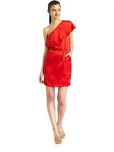 halston heritage one shoulder #dress #fashion $73 (reg 365!!)