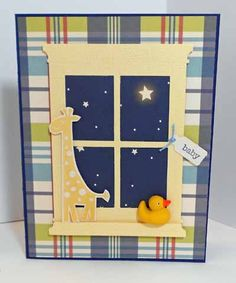 Baby by golf_meg - Cards and Paper Crafts at Splitcoaststampers by ivy Boy Cards, New Baby Cards, Kids Cards, Cute Cards, Window Cards, Baby Kind, Card Tags, Card Kit, Creative Cards
