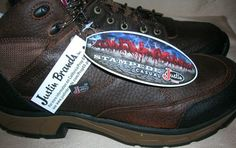 Justin  Stampede Waterproof Lace-Up Hiking Boots NEW IN BOX  Size 9M   #Justin #casualhiking