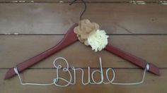 Bride Hanger With Yellow Flowers by WeddingDistinct on Etsy, $15.99
