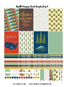 Free Printable Camping/Travel Sampler Page 1 for the Big Happy Planner on myplannerenvy.com
