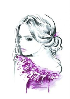 Original Watercolor Fashion Illustration