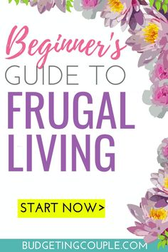 Want to save money on autopilot every single month? Check out our ultimate Frugal Living For Beginners Guide for 2019. Find out how to *easily* live frugally and start saving money so you can stop living paycheck to paycheck today! Budgeting Couple | Budgeting Couple Blog | BudgetingCouple.com #beginnersguidetofrugalliving #frugal #frugalliving #frugaltips