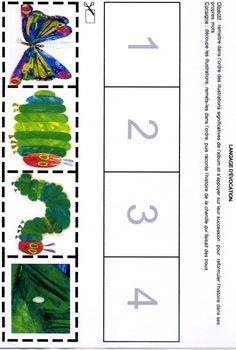 Deutsch, Geschichte, Reihenfolge Bildkarten, Bild Karten, weiter erzählen, Raupe Nimmersatt, Material, Sprache, Sprachförderung, Klasse 1, Vorschule