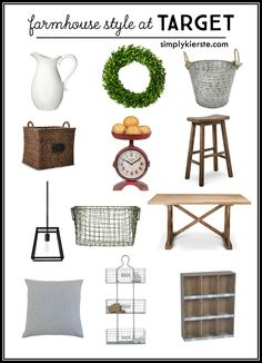 Did you know you can find great farmhouse style at Target? It's true! They've got so many great farmhouse pieces--for the entire house!