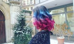 BLue-Purple-Pink ombre hair #extremehair #ombre