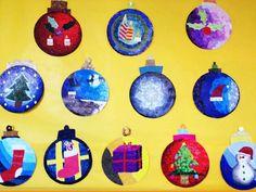 Cómo decorar unas esferas de cartón con mosaicos de papel. #manualidades #niños #mosaicos #papel #esferas http://abt.cm/1Pmcrzl