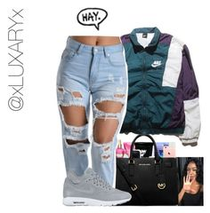 """""""Untitled #12"""" by xluxaryx ❤ liked on Polyvore featuring MICHAEL Michael Kors and NIKE"""