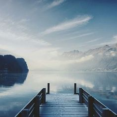 Magic moment on the lake Brienz
