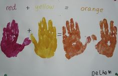 Children love exploring colors. Turning primary colors into secondary colors is magical.