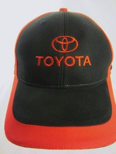 Toyota Ball Cap Black and Red Adult Adjustable Hat  #Toyota #ToyotaDrivers