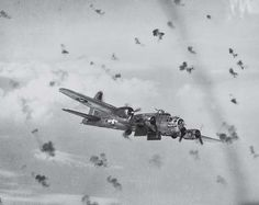 Berlin mission on a B17 Flying Fortress - flak all around