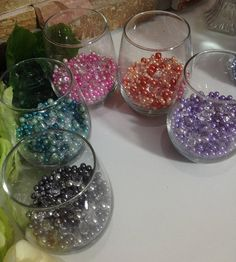 500 Pcs Diamonds & Pearls Confetti Mix For Candle Votive