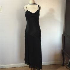 """Express Silk Coctail Dress- Sz 7/8. NWT Stunningly beautiful pure silk dress with chiffon skirt- Sexy 23"""" split on both sides! Fun & edgy detailing on straps & attached drape piece that can be worn around neck or hanging free. This is a must see, as my description doesn't do this dress justice!    Armpit to armpit- 15"""".  Length- 41 on shortest side. Brand new! Express Dresses Wedding"""
